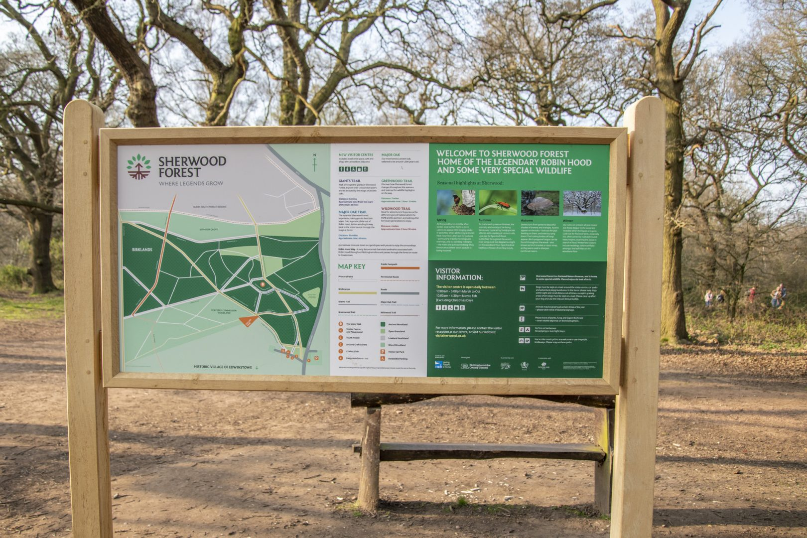 Sherwood Forest trails