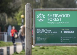 Sherwood Forest welcome sign